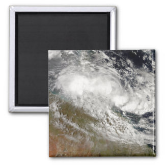 Tropical Cyclone Olga over northeast Australia Square Magnet