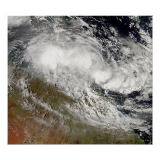 Tropical Cyclone Olga over northeast Australia Poster