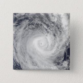 Tropical Cyclone Oli off the coast of Tahiti 15 Cm Square Badge