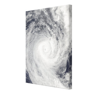 Tropical Cyclone Oli off the coast of Tahiti Canvas Print