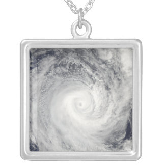 Tropical Cyclone Oli off the coast of Tahiti Silver Plated Necklace