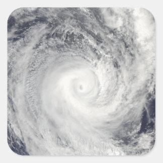 Tropical Cyclone Oli off the coast of Tahiti Square Sticker