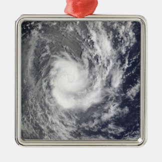 Tropical Cyclone Pat Silver-Colored Square Decoration