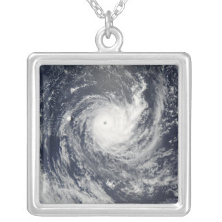 Tropical Cyclone Wilma Silver Plated Necklace