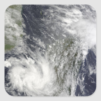 Tropical Cyclones Eric and Fanele Square Sticker