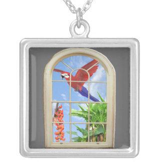 Tropical Delight Square Pendant Necklace