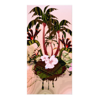 Tropical design photo greeting card