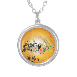 Tropical design with toucan personalized necklace