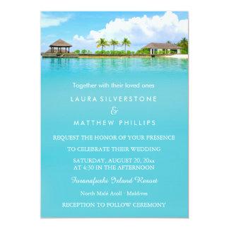 Tropical Destination Resort Beach Wedding Card