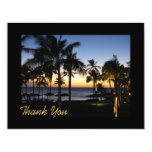 Tropical Destination Thank You Card Personalized Invite
