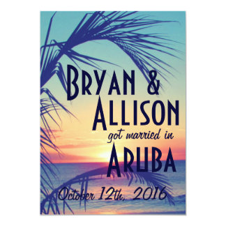 Tropical Destination Wedding Announcement & Invite
