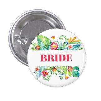 Tropical Destination Wedding Bride 3 Cm Round Badge