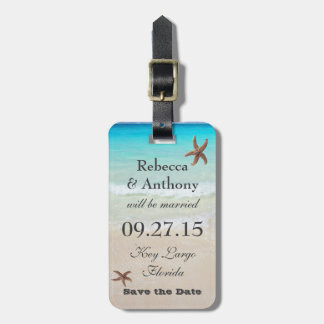 Tropical Destination Wedding Luggage Tag