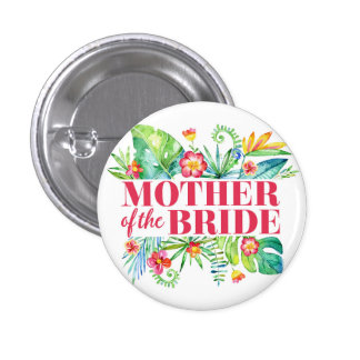 Tropical Destination Wedding Mother of the Bride 3 Cm Round Badge