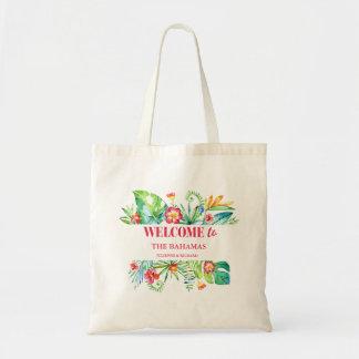 Tropical Destination Wedding Welcome Tote Bag