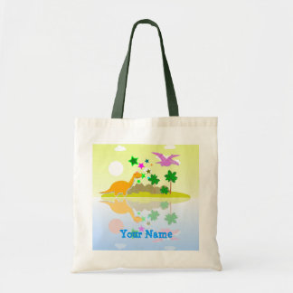Tropical Dinosaurs Island Name Bag/ Tote