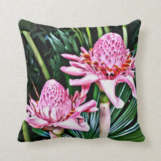 Tropical Double Ginger Flower Cushion
