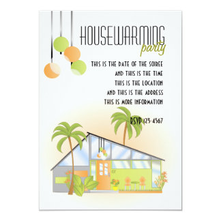 Tropical Dream House 13 Cm X 18 Cm Invitation Card