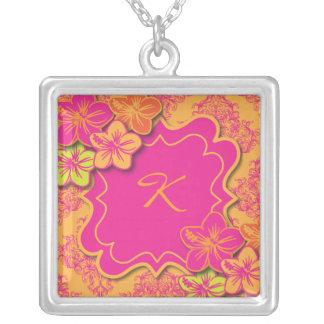 Tropical Dreams Square Pendant Necklace