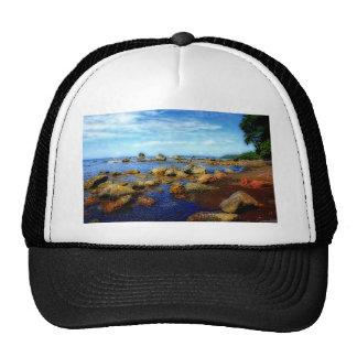 Tropical Dreamy Rocky Beach Trucker Hat