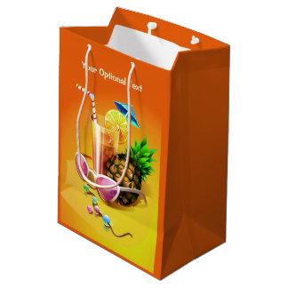 Tropical Drink custom gift bag