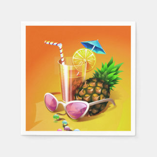 Tropical Drink paper napkins Disposable Serviette