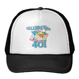 Tropical Drinks Celebrating 40 Trucker Hat
