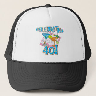 Tropical Drinks Celebrating 40 Trucker Hat