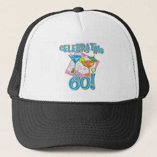 Tropical Drinks Celebrating 60 Trucker Hat