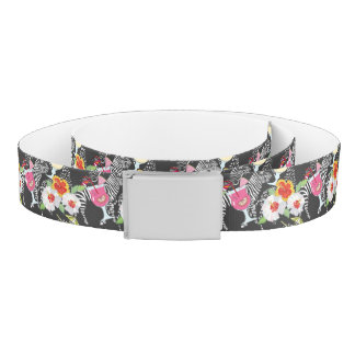 Tropical Drinks With Animals Belt