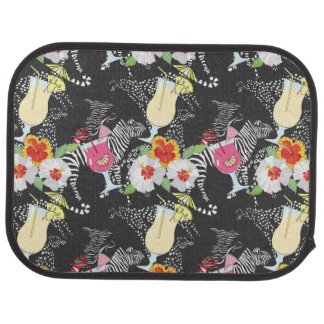 Tropical Drinks With Animals Car Mat