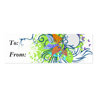 tropical elegance vector design pack of skinny business cards