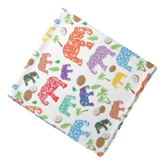 Tropical Elephants Bandana