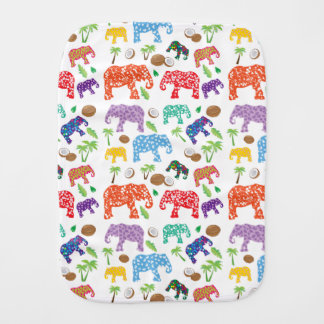 Tropical Elephants Burp Cloth