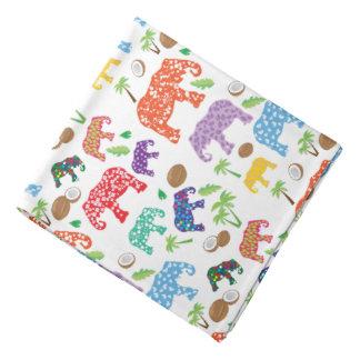 Tropical Elephants Kerchief