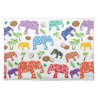 Tropical Elephants Placemat