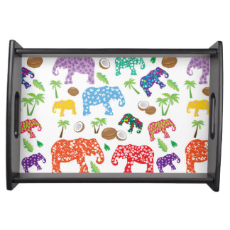 Tropical Elephants Serving Tray