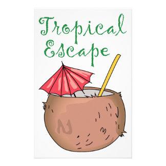 Tropical Escape Custom Stationery