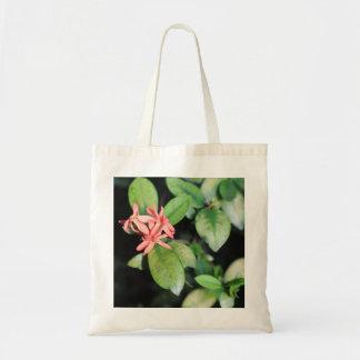 Tropical Exotic Coral Flower, Kew Gardens Tote Bag