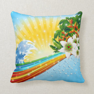 Tropical Exotic Summer Holidays Throw Pillow