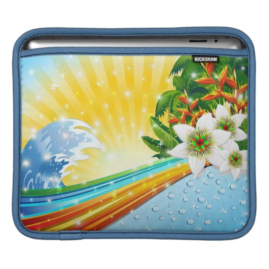 Tropical Exotic Summer Holidays iPad Sleeve