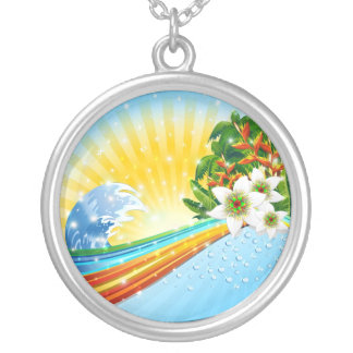 Tropical Exotic Summer Holidays Custom Necklace