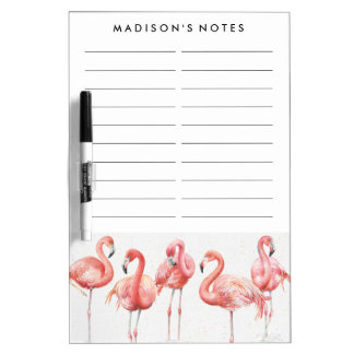 Tropical | Family of Flamingos Dry Erase Board