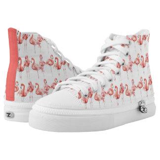 Tropical | Family of Flamingos High Tops