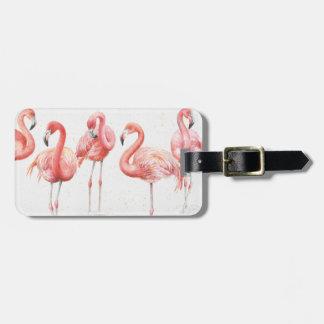 Tropical   Family of Flamingos Luggage Tag
