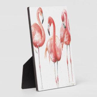 Tropical | Family of Flamingos Photo Plaque