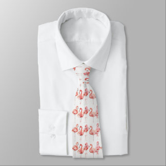 Tropical | Family of Flamingos Tie