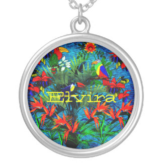 Tropical Fantasy Personalized Necklace