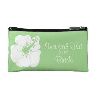 Tropical Feijoa Hibiscus Bridal Survival Kit Cosmetic Bag