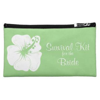 Tropical Feijoa Hibiscus Bridal Survival Kit Cosmetics Bags